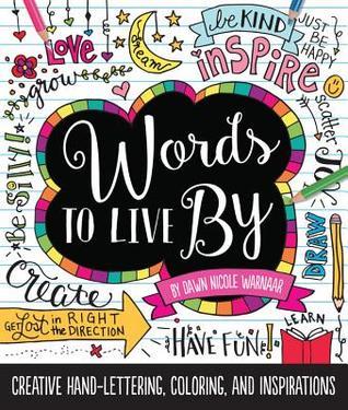 Palabras a vivir cerca: Mano-escritura creativa, colorear, e inspiraciones