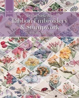 Bordado de cinta y Stumpwork: Diseño floral original con más de 30 modelos
