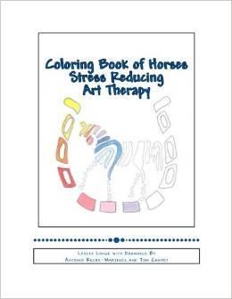 Libro para colorear de caballos Reducción del estrés Art Therapy