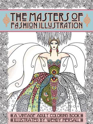 Libro para colorear adulto Serie de la vendimia: Los amos de la ilustración de la manera