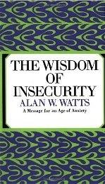 La sabiduría de la inseguridad: un mensaje para una era de ansiedad