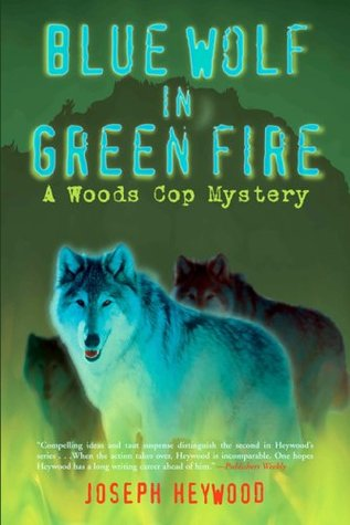 Lobo azul en fuego verde