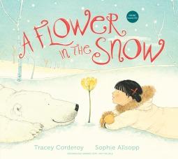 Una flor en la nieve