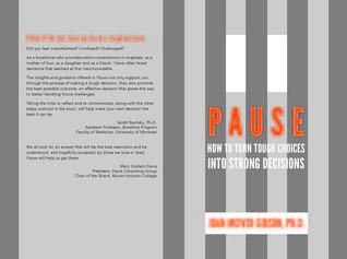 Pausa: Cómo convertir decisiones difíciles en decisiones fuertes