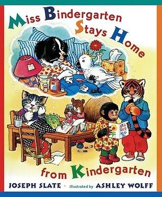 La señorita Bindergarten se queda en casa desde Kindergarten