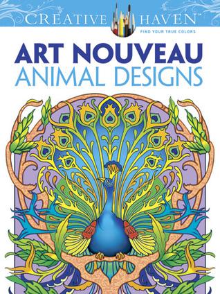 Creative Haven Art Nouveau diseño de animales Libro para colorear