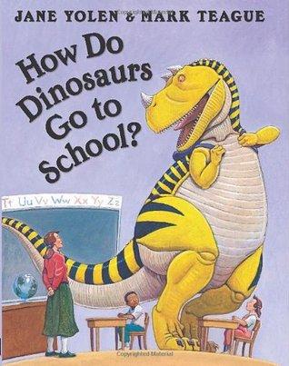 ¿Cómo van los dinosaurios a la escuela?