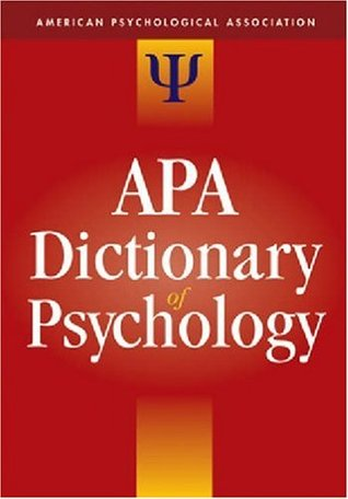 APA Diccionario de Psicología